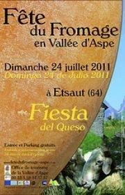 affiche fête du fromage etsaut 2011